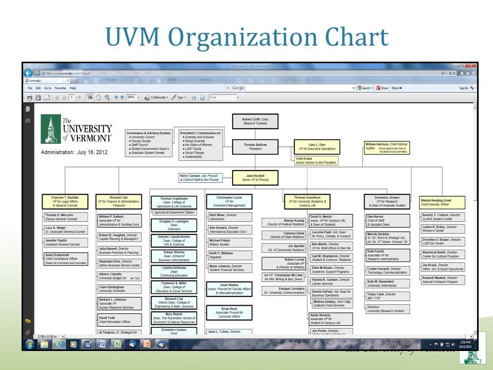 UVM Organization Chart