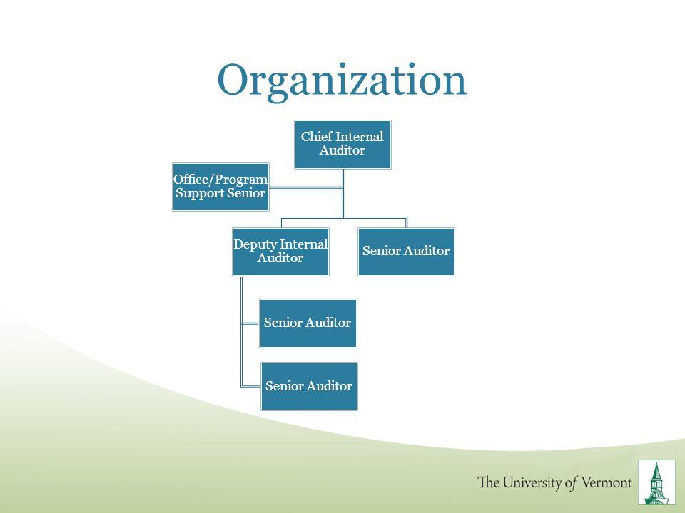 Organization Chief Internal Auditor Office/Program Support Senior