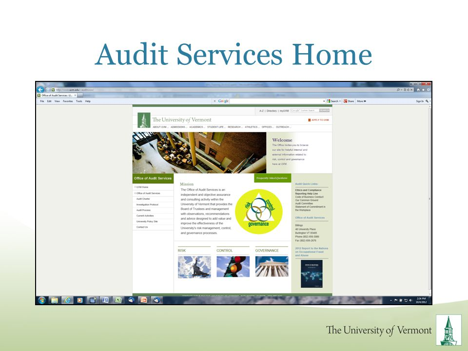 Audit Services Home