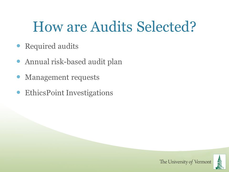 How are Audits Selected