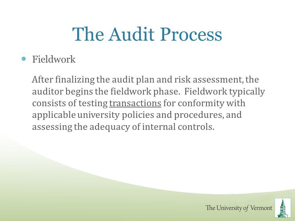 The Audit Process Fieldwork