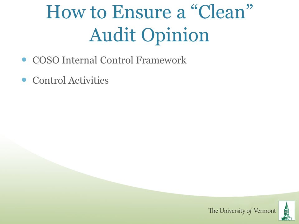 How to Ensure a Clean Audit Opinion
