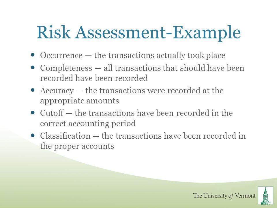 Risk Assessment-Example