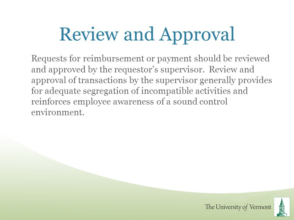 Review and Approval