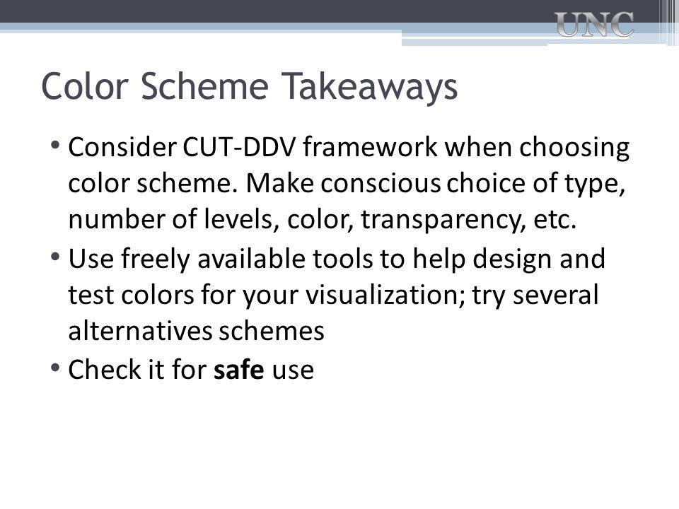 Color Scheme Takeaways