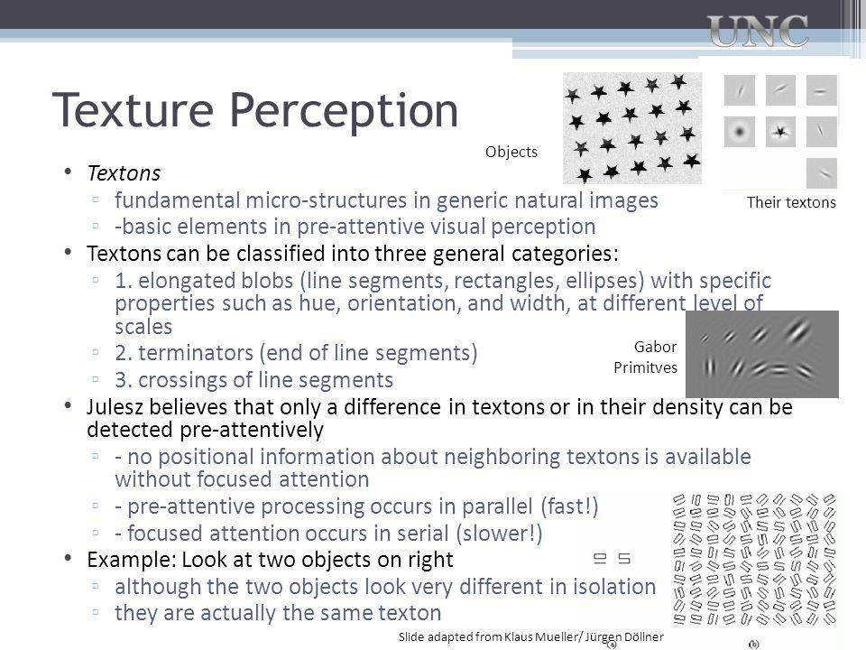 Texture Perception Textons