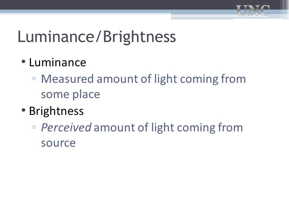 Luminance/Brightness