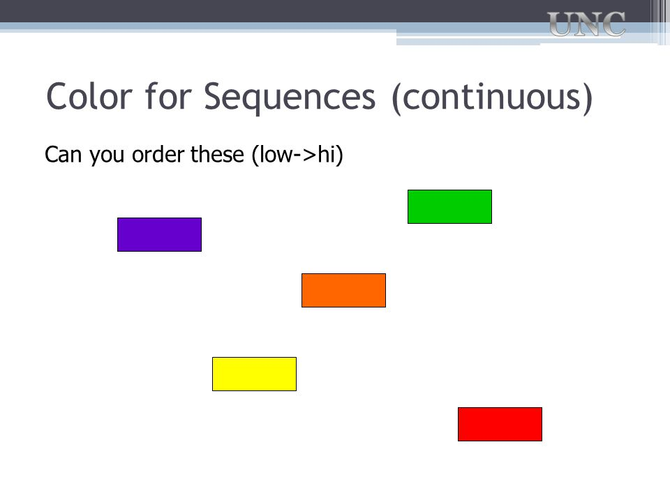 Color for Sequences (continuous)