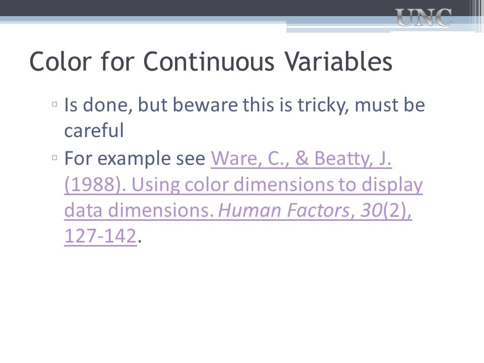 Color for Continuous Variables