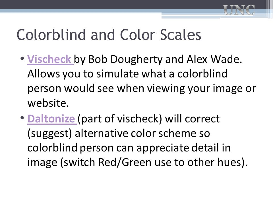 Colorblind and Color Scales