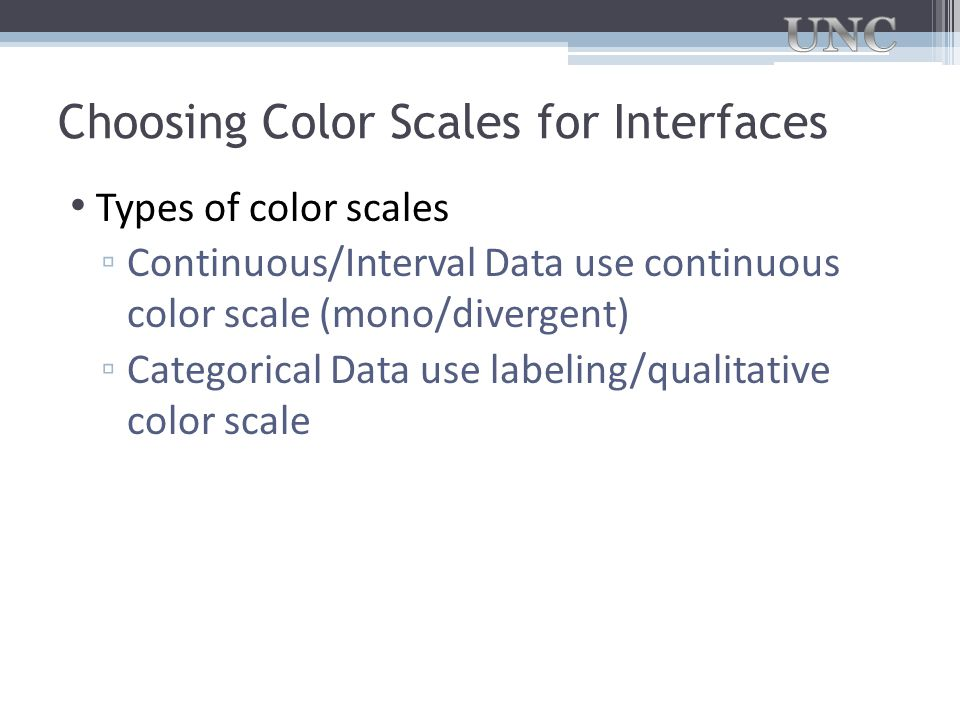 Choosing Color Scales for Interfaces