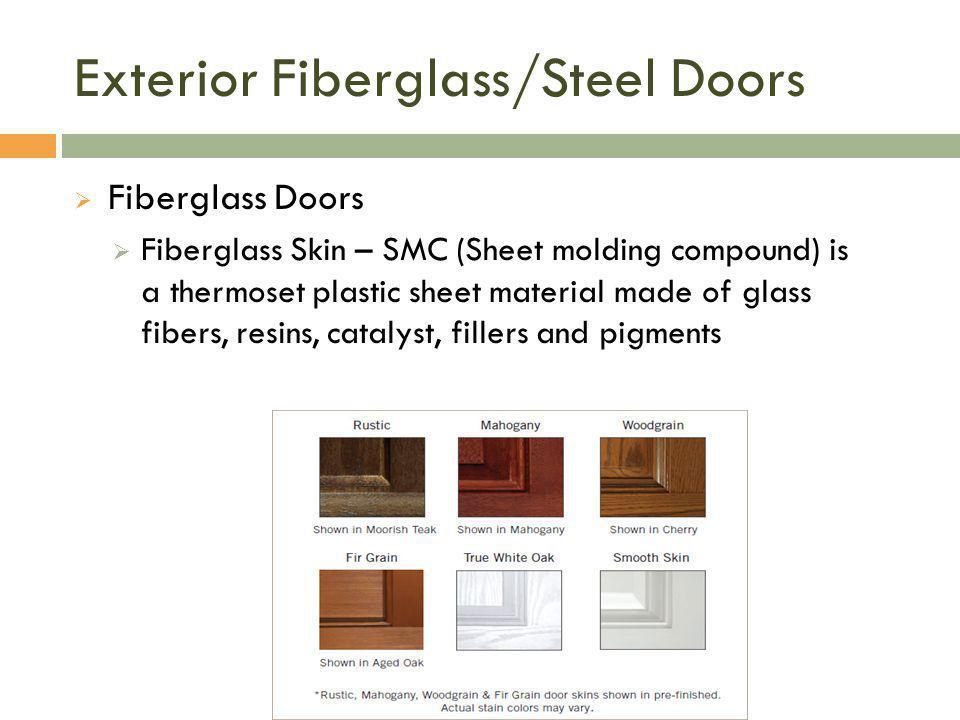 Exterior Fiberglass/Steel Doors