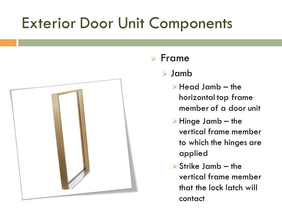 Exterior Door Unit Components
