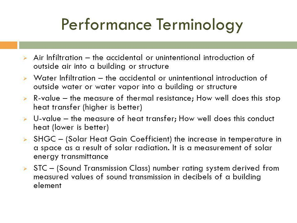 Performance Terminology