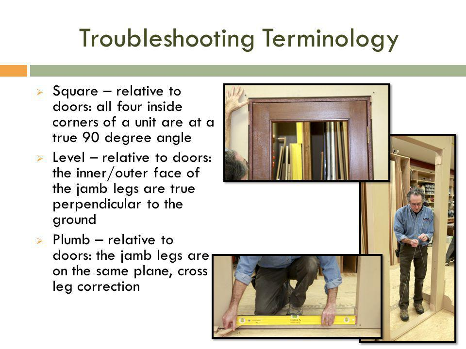 Troubleshooting Terminology