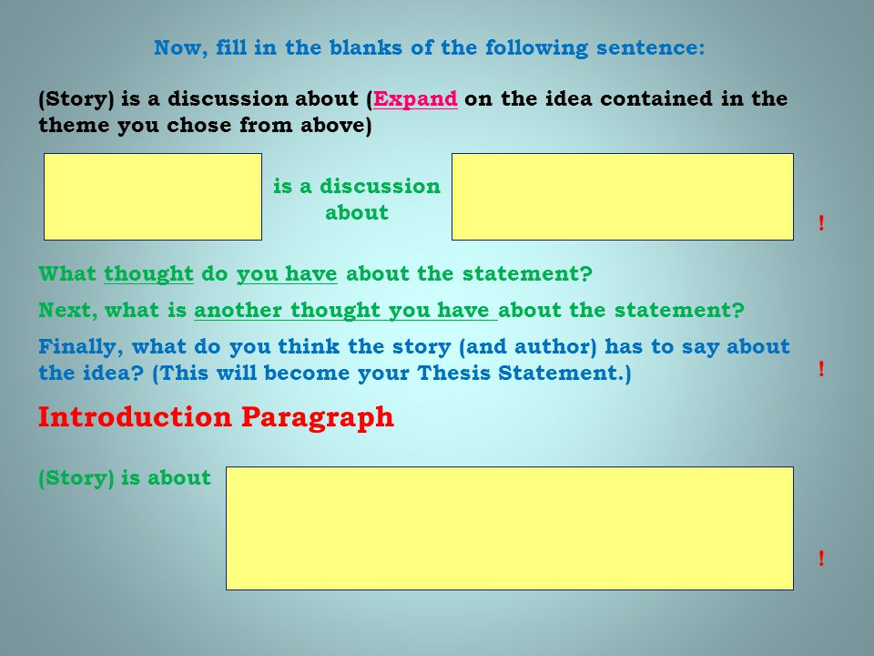 Now, fill in the blanks of the following sentence: