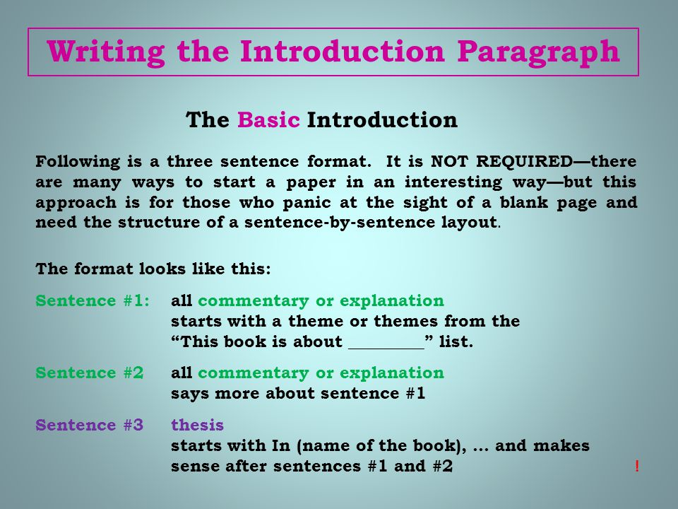 introduction to essay