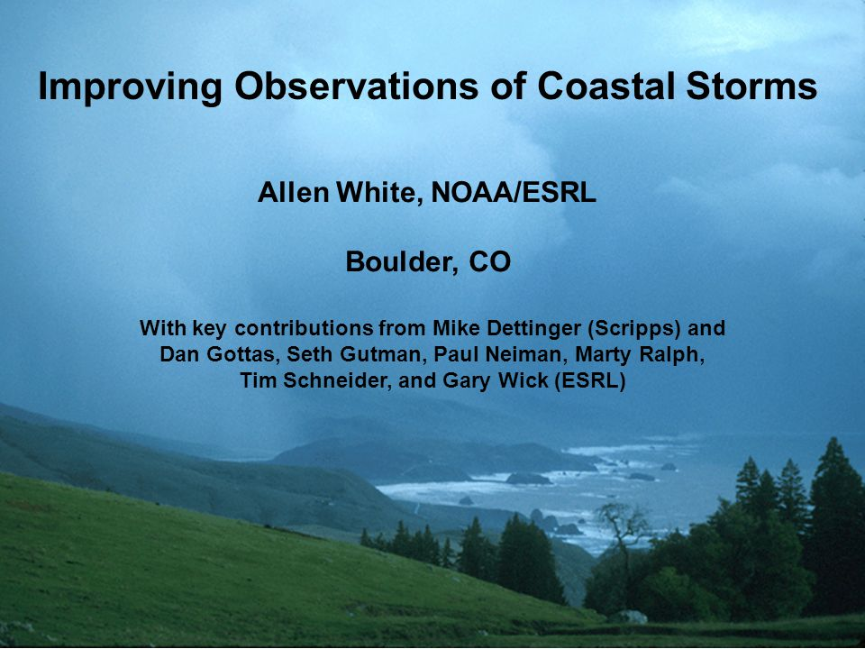 Improving Observations of Coastal Storms