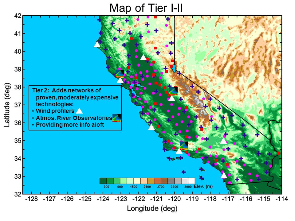 Map of Tier I-II Tier 1: Builds on existing networks and adds proven inexpensive technologies: GPS-met.