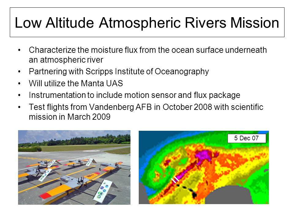 Low Altitude Atmospheric Rivers Mission