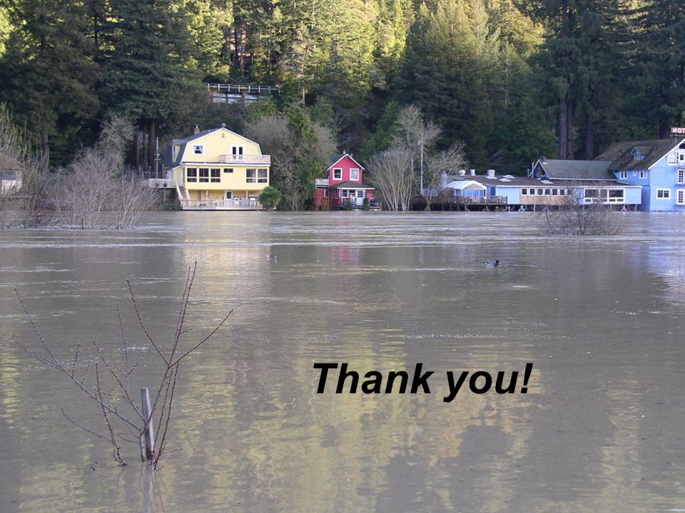 Thank you! Russian River Flooding – Monte Rio, CA