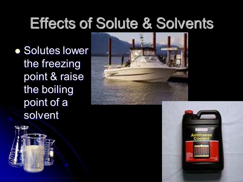 Effects of Solute & Solvents