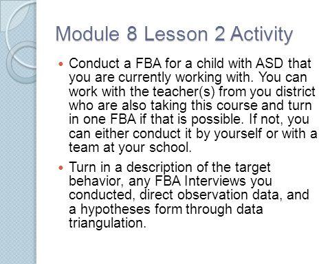 Module 8 Lesson 2 Activity
