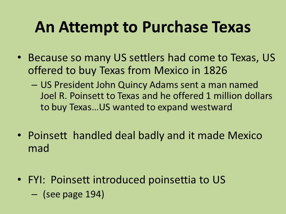 An Attempt to Purchase Texas