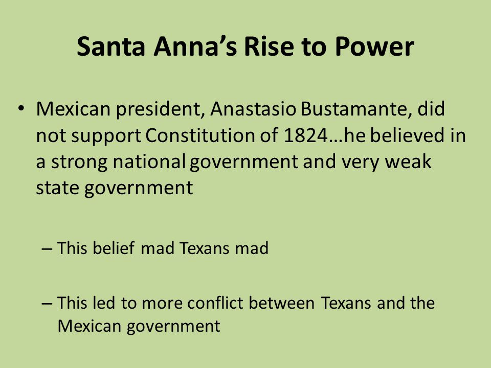 Santa Anna's Rise to Power