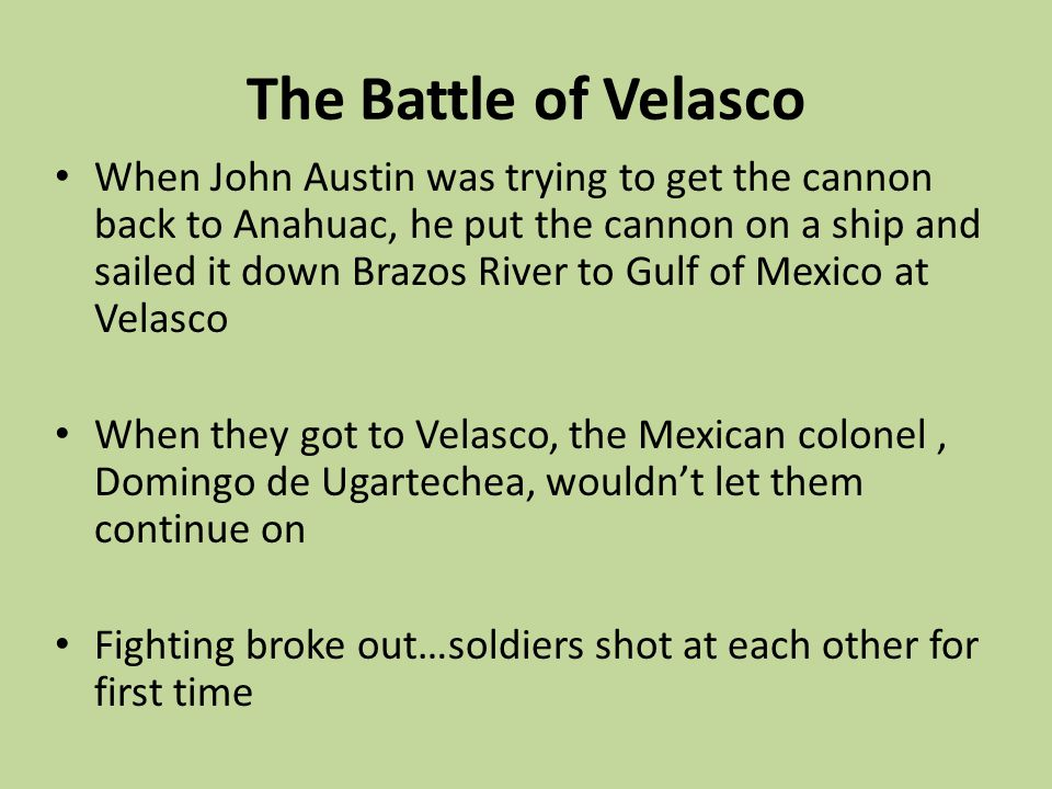 The Battle of Velasco