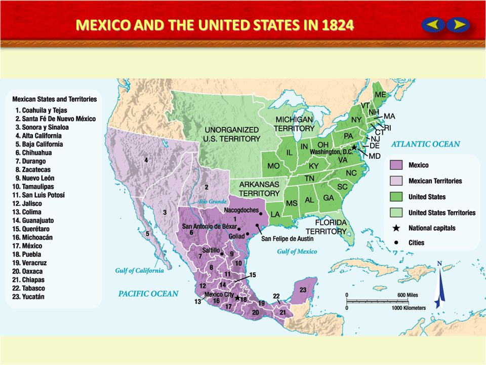 MEXICO AND THE UNITED STATES IN 1824