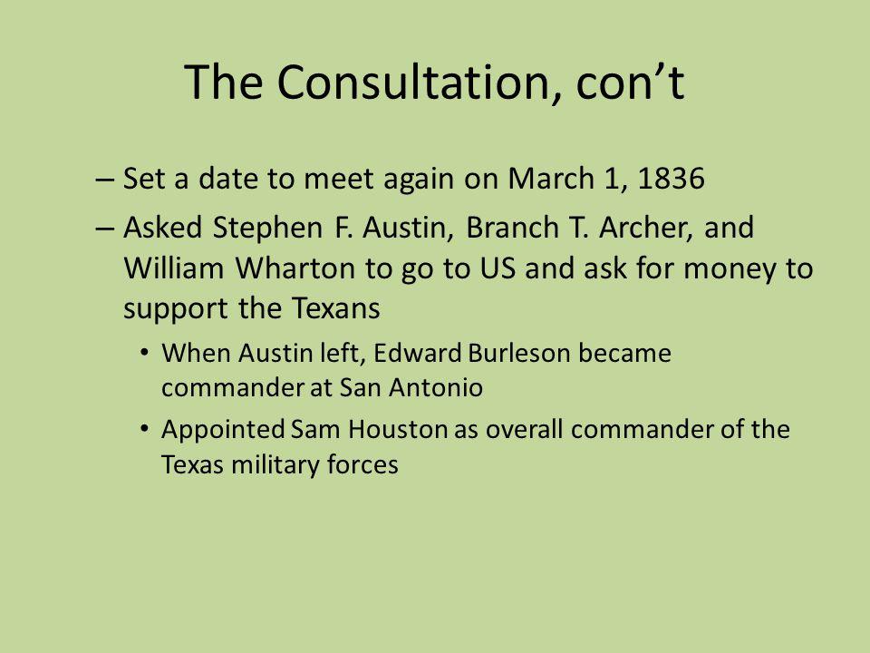 The Consultation, con't