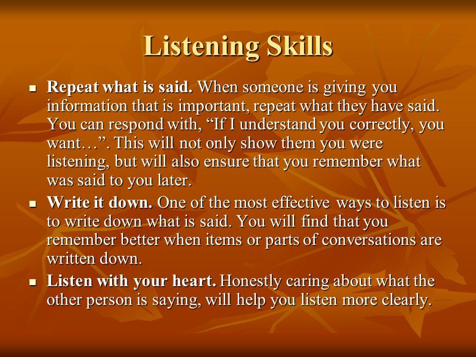 Listening Skills