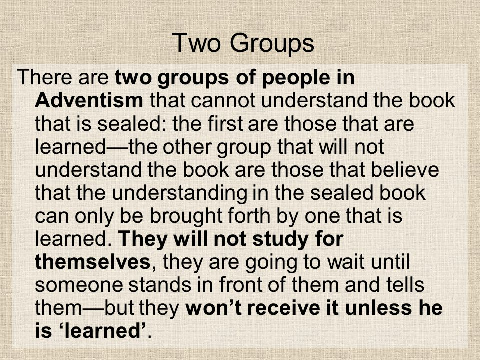 Two Groups