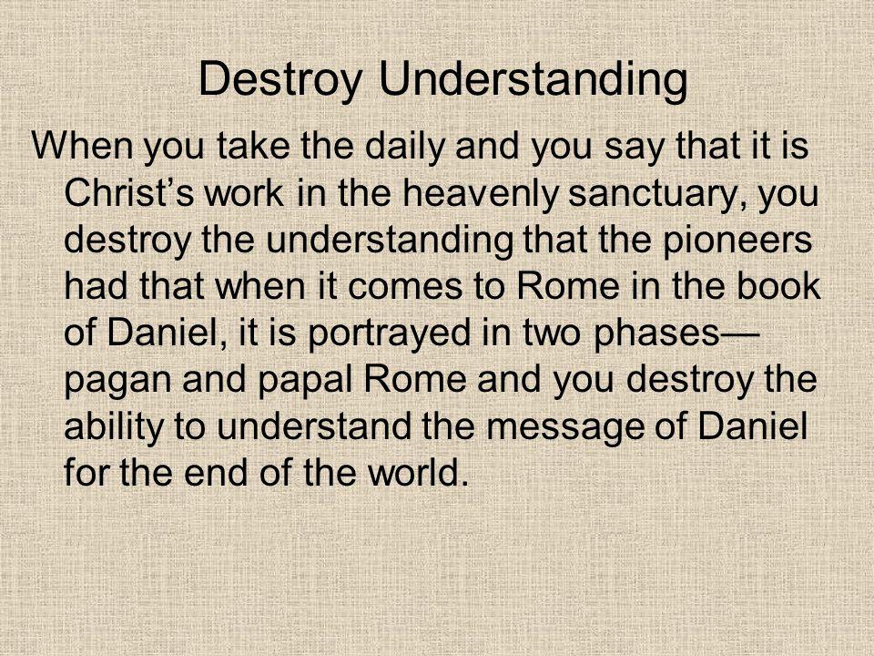 Destroy Understanding