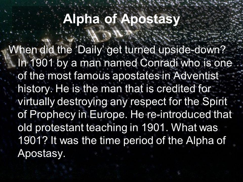 Alpha of Apostasy