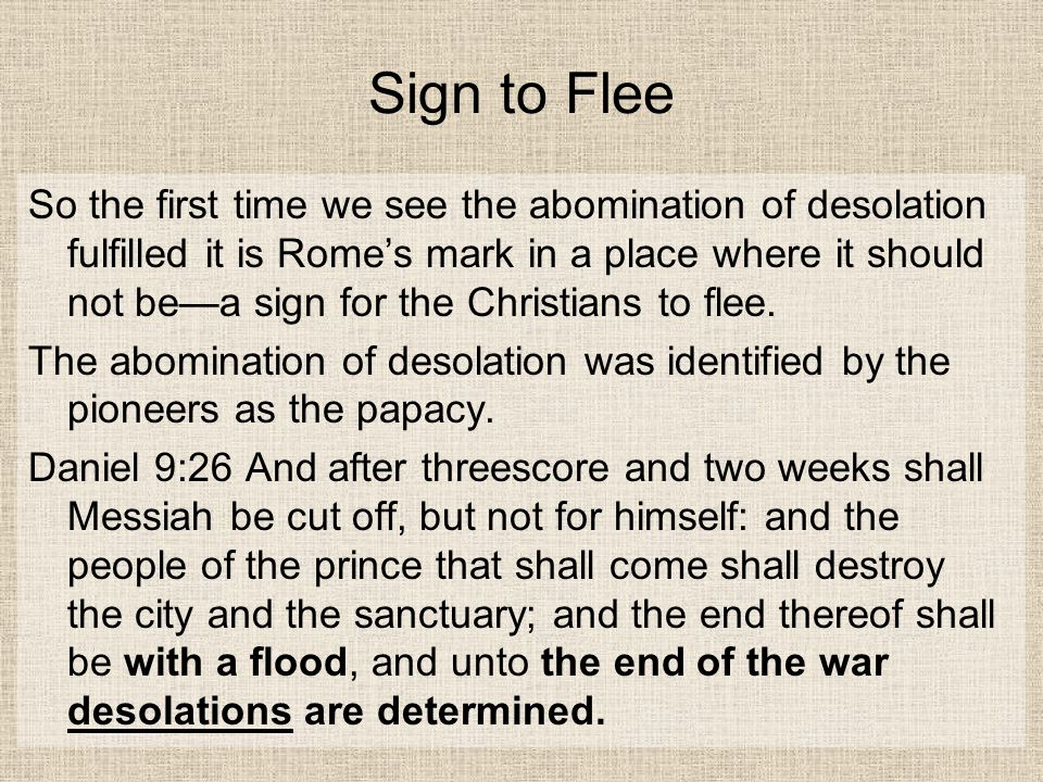 Sign to Flee