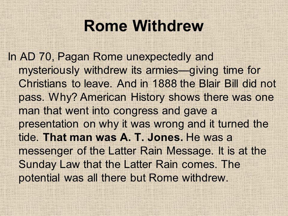 Rome Withdrew
