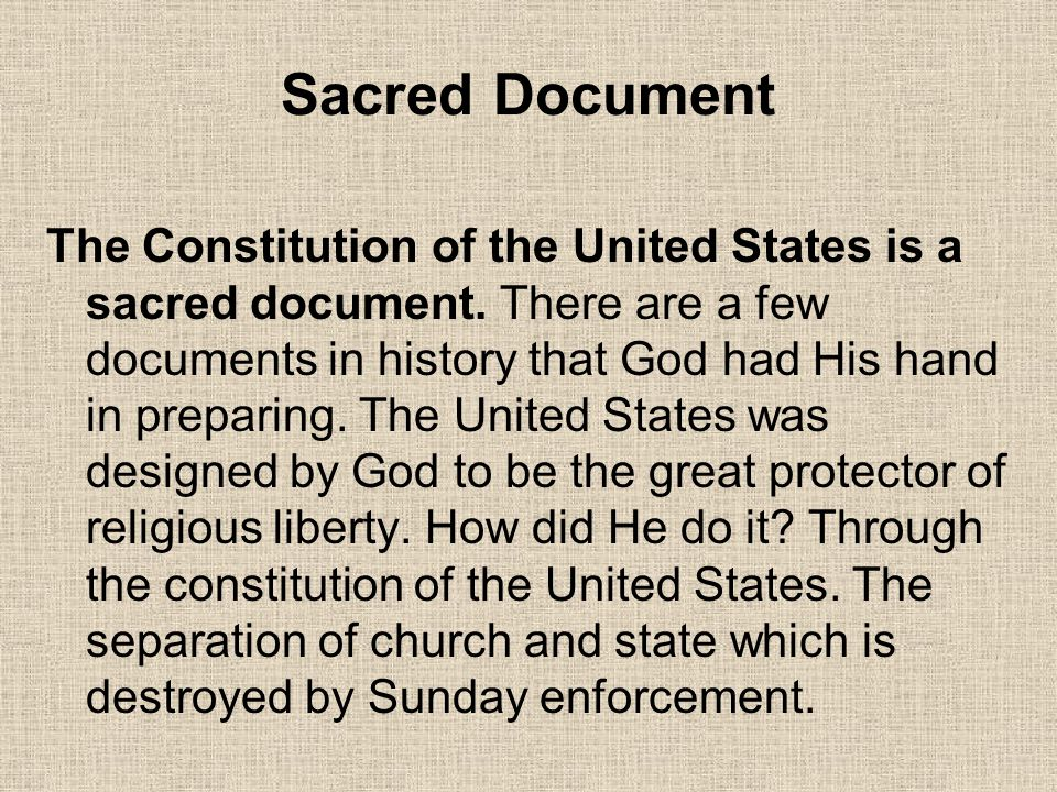 Sacred Document
