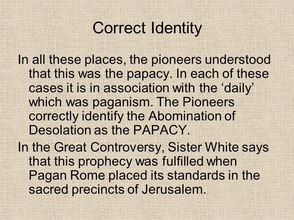 Correct Identity