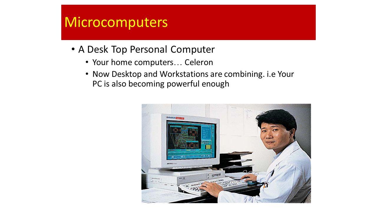 Microcomputers A Desk Top Personal Computer
