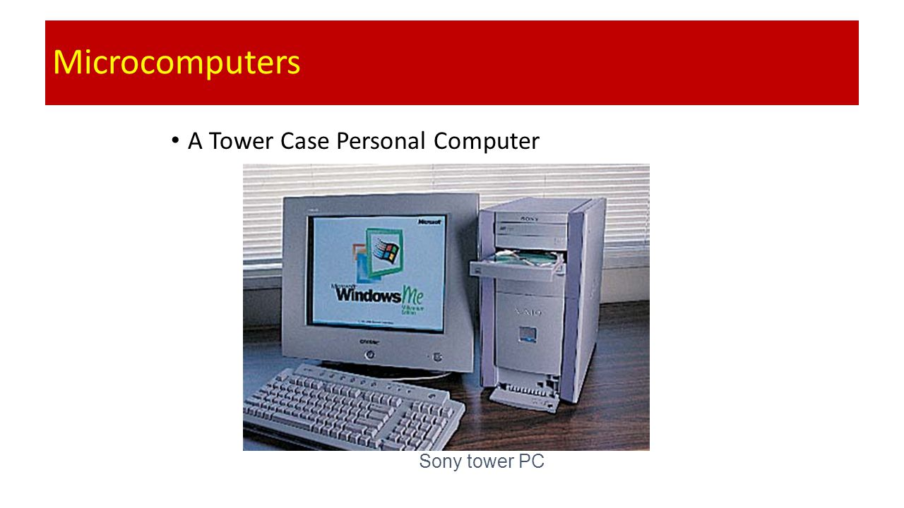 Microcomputers A Tower Case Personal Computer Sony tower PC