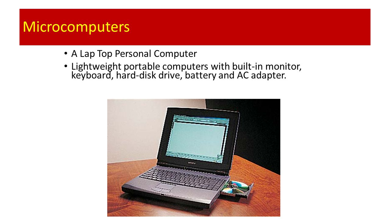 Microcomputers A Lap Top Personal Computer
