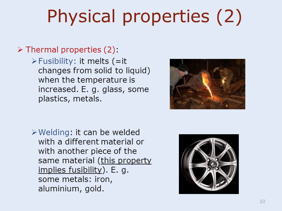 Physical properties (2)