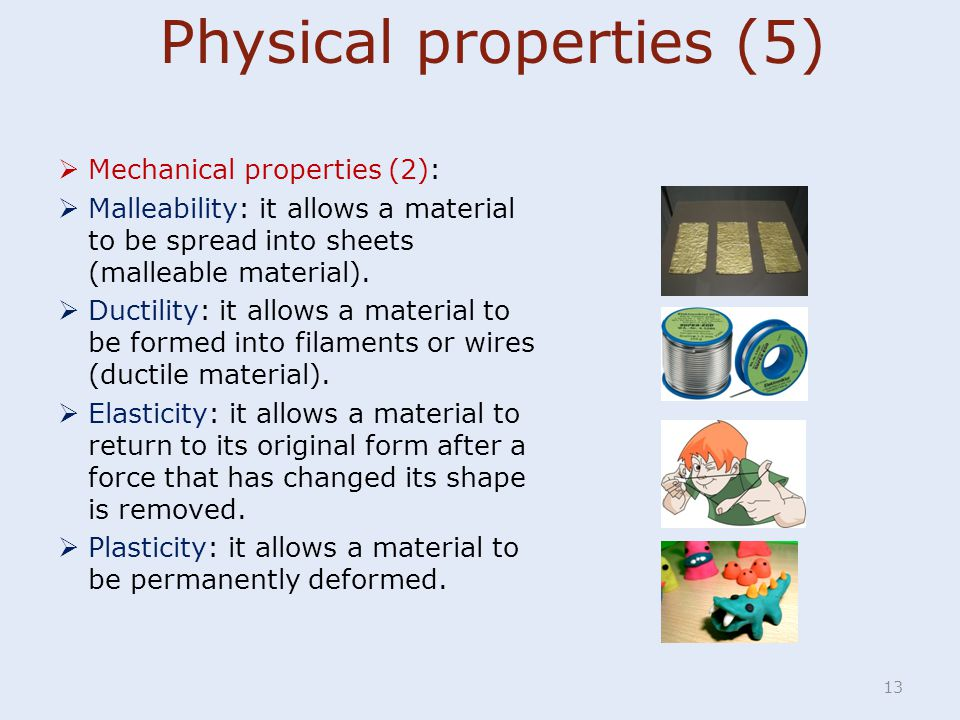 Physical properties (5)