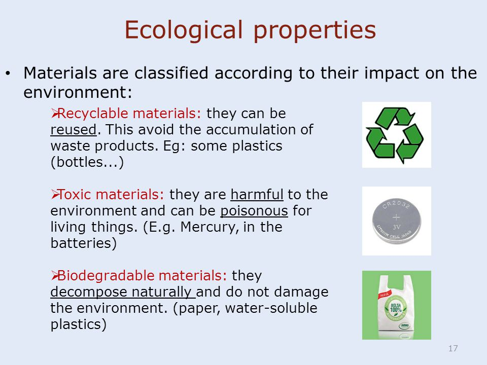 Ecological properties