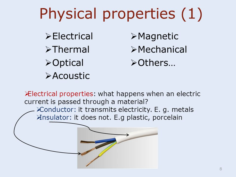 Physical properties (1)
