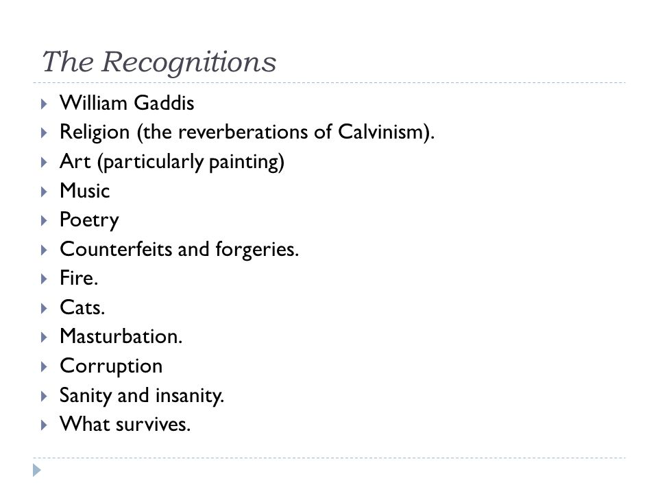 The Recognitions William Gaddis