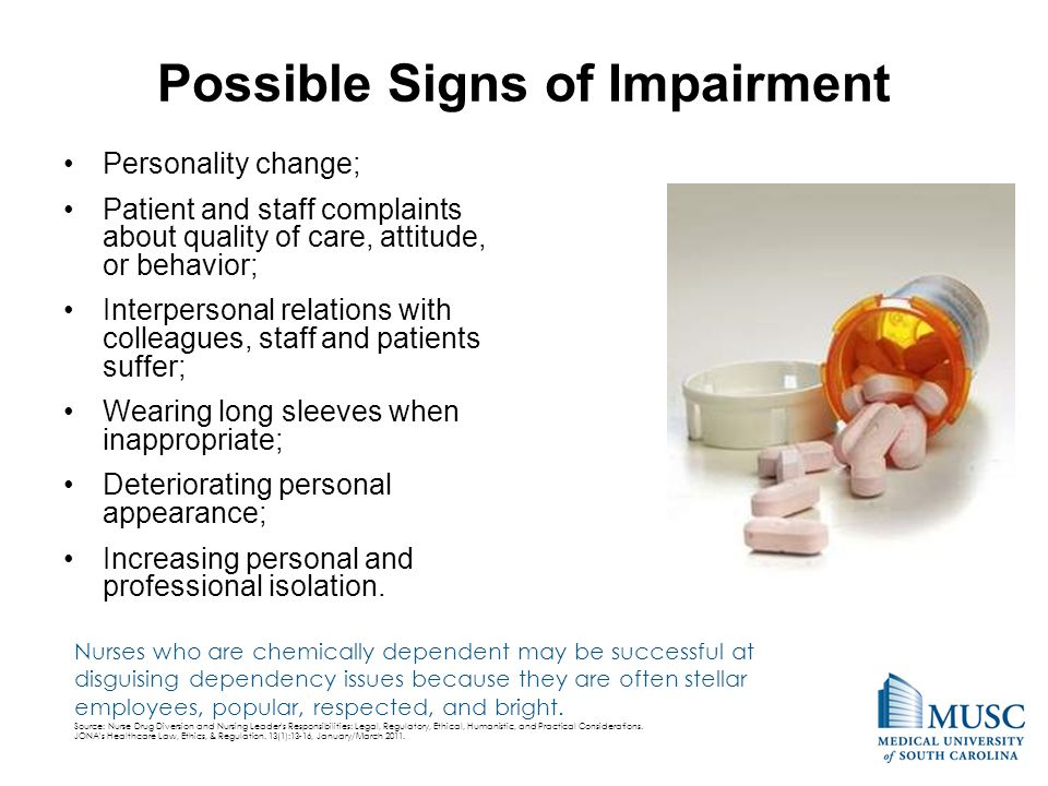 Possible Signs of Impairment