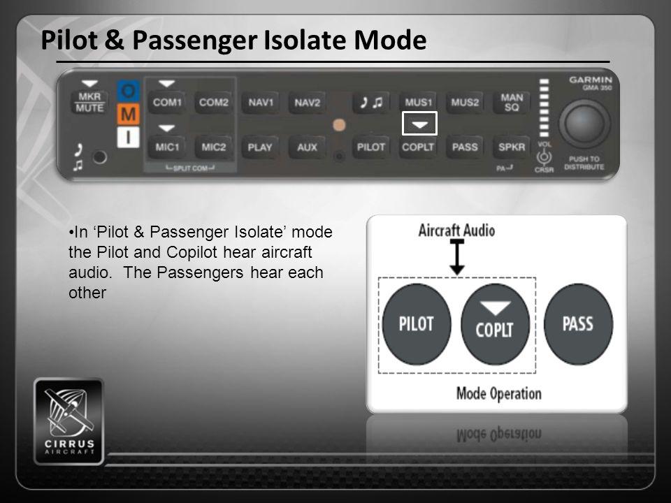 Pilot & Passenger Isolate Mode